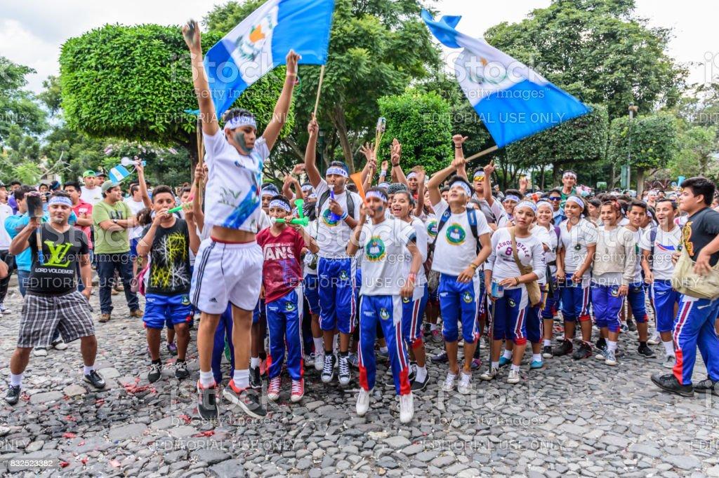 Día de la independencia, Antigua, Guatemala - foto de stock