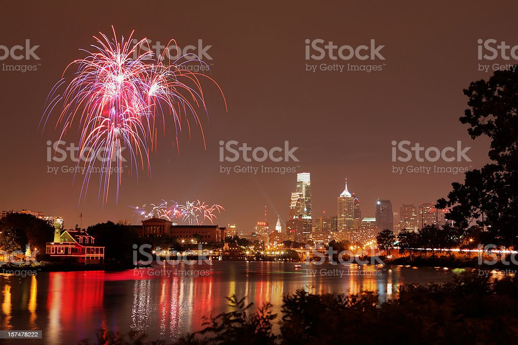 Independence day celebration at Philadelphia stock photo
