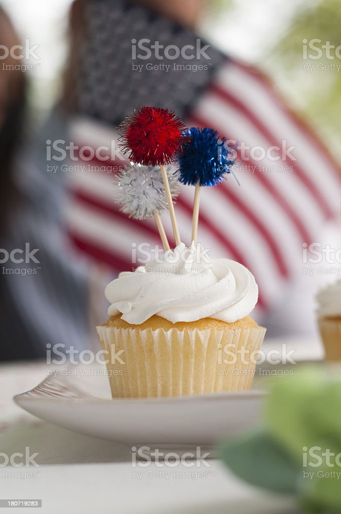Independence Day Cupcake royalty-free stock photo