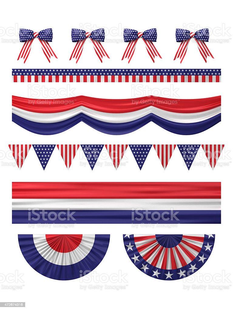 USA Unabhängigkeitstag Dekoration Grenze festgelegt. – Foto