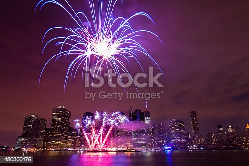 istock Independence Day Fireworks, New York City 480300476