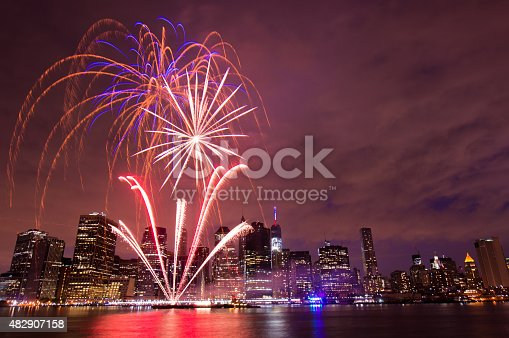 istock Independence Day Fireworks, New York City 482907158