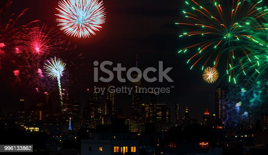 525385459 istock photo Independence day fireworks over Manhattan, New York city 996133862