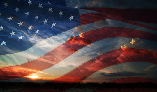 istock Independence day. flag usa 495207893