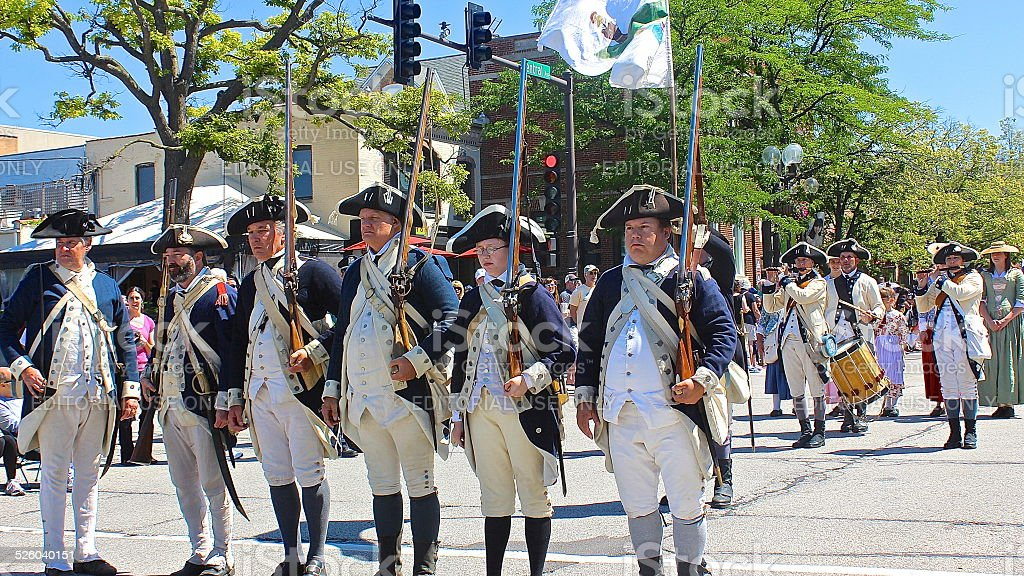 Independence Day Fourth of July Parade in America stock photo