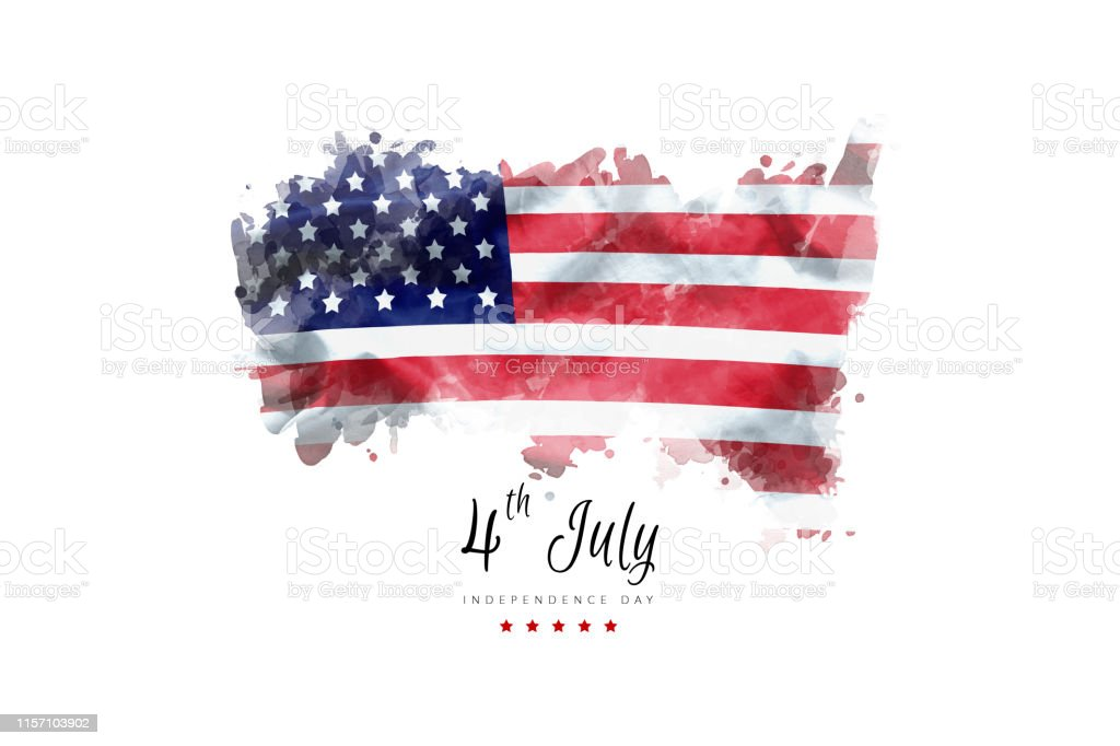 Independence Day greeting card american flag grunge background Independence Day greeting card american flag grunge background American Flag Stock Photo
