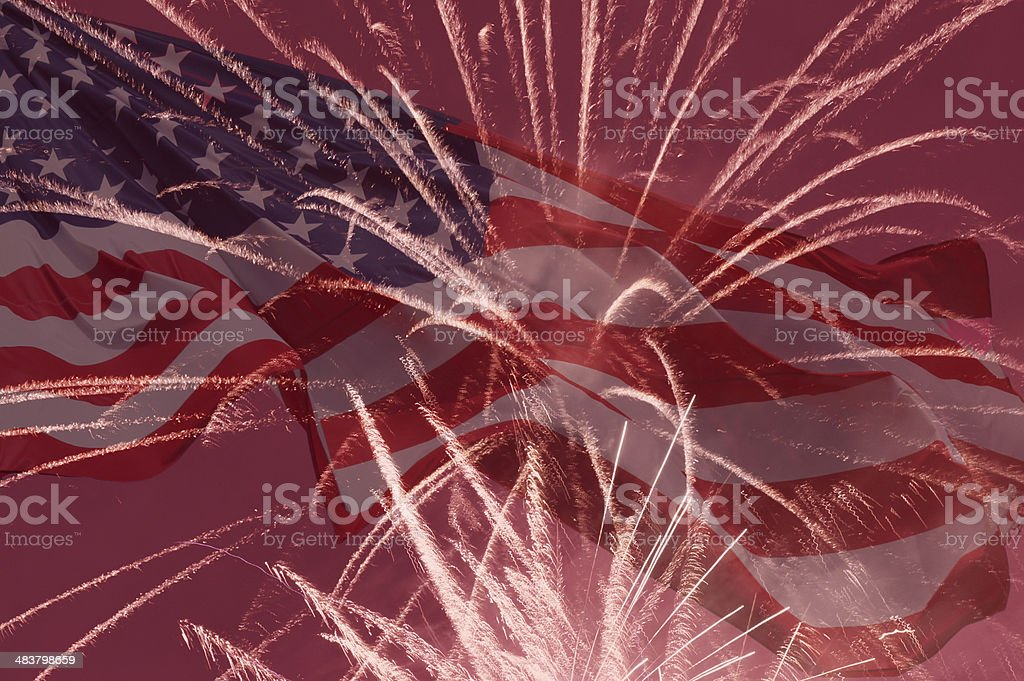 Independence Day holiday background stock photo