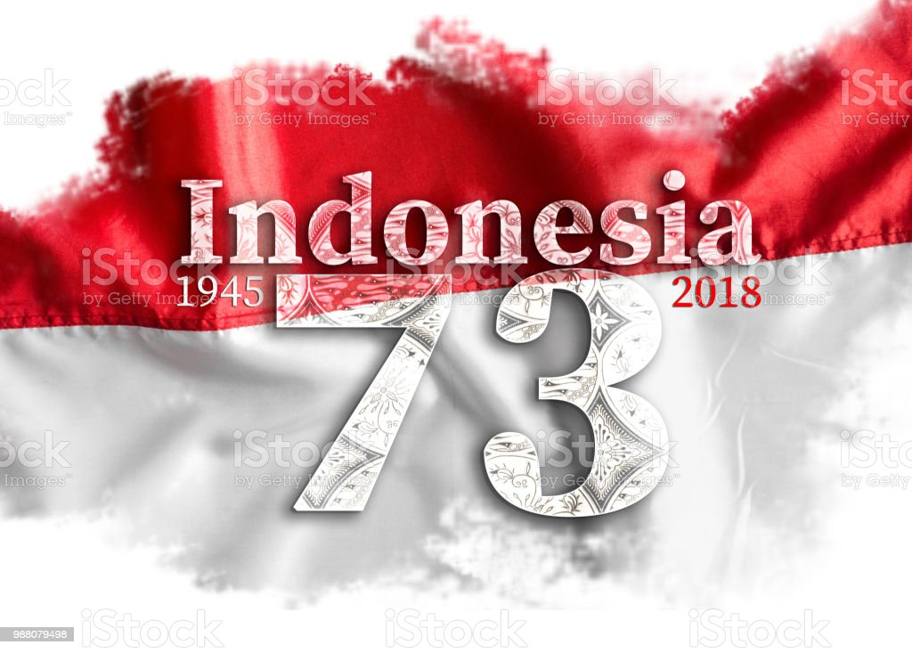 Independence Day Indonesia flag. stock photo