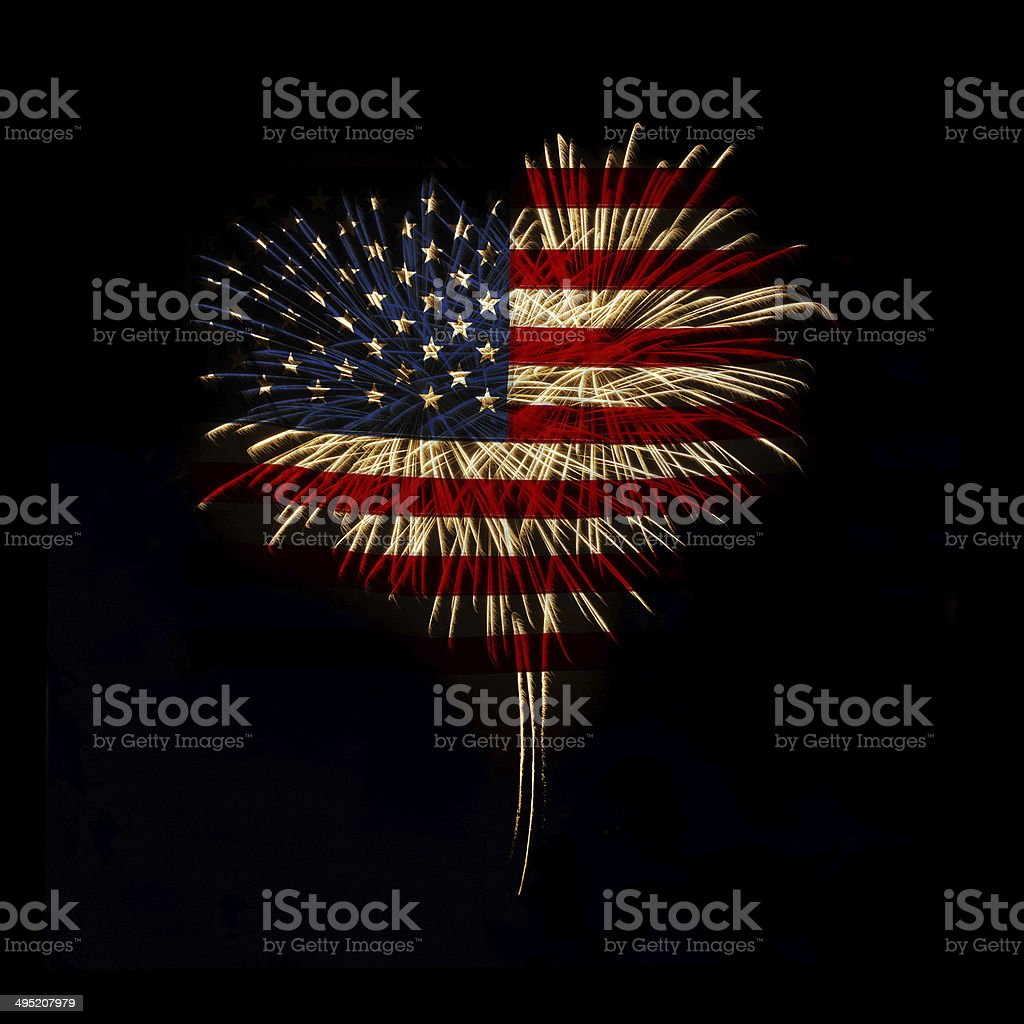 Independence day. My heart with love to usa. royalty-free stock photo
