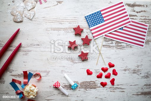 istock Independence day party decoration 696536978