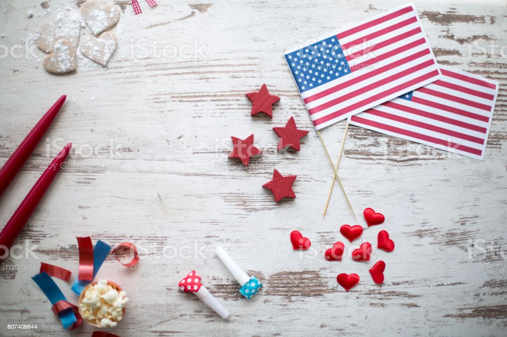 Independence day party decoration stock photo