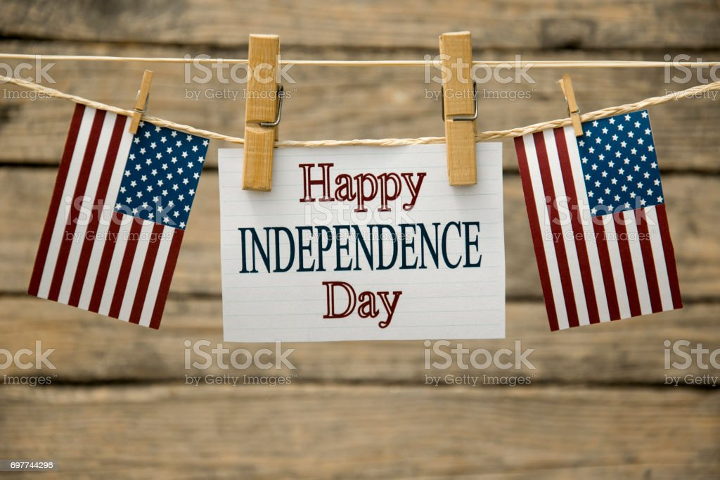 Independence day Independence day usa greeting card or background. American Flag Stock Photo
