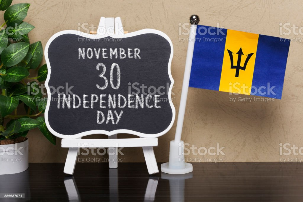Independence Day ,Public Holiday in Barbados stock photo