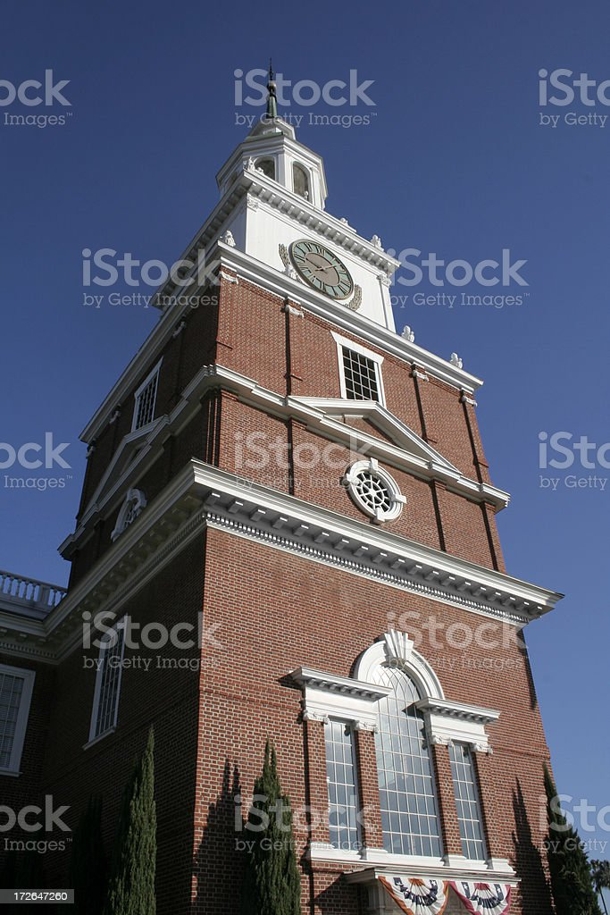 Independence Hall at Knott's Berry Farm royalty-free stock photo