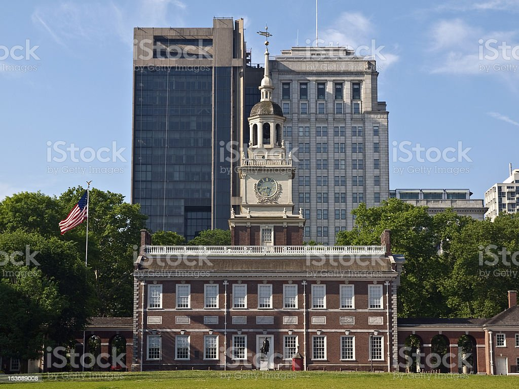 Independence Hall Day stock photo