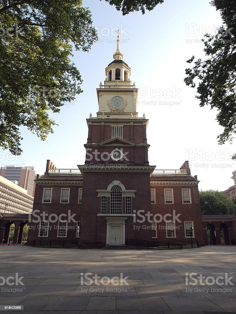 Independence Hall Early Morning royalty-free stock photo