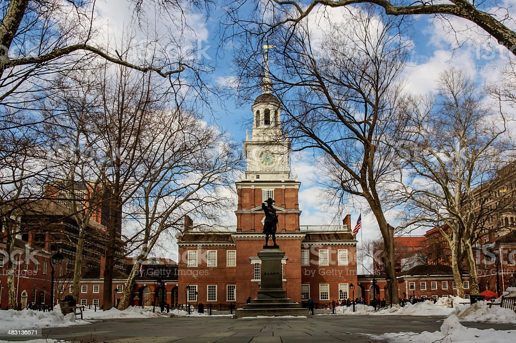 Independence Hall in Philadelphia: birthplace of the USA. stock photo