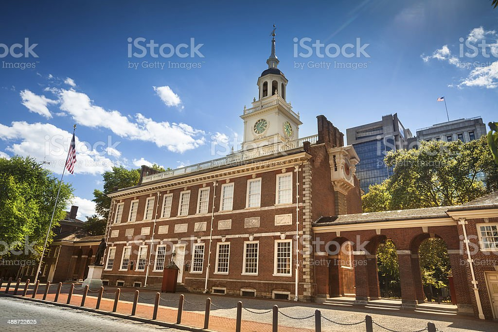 Independence Hall in Philadelphia stock photo
