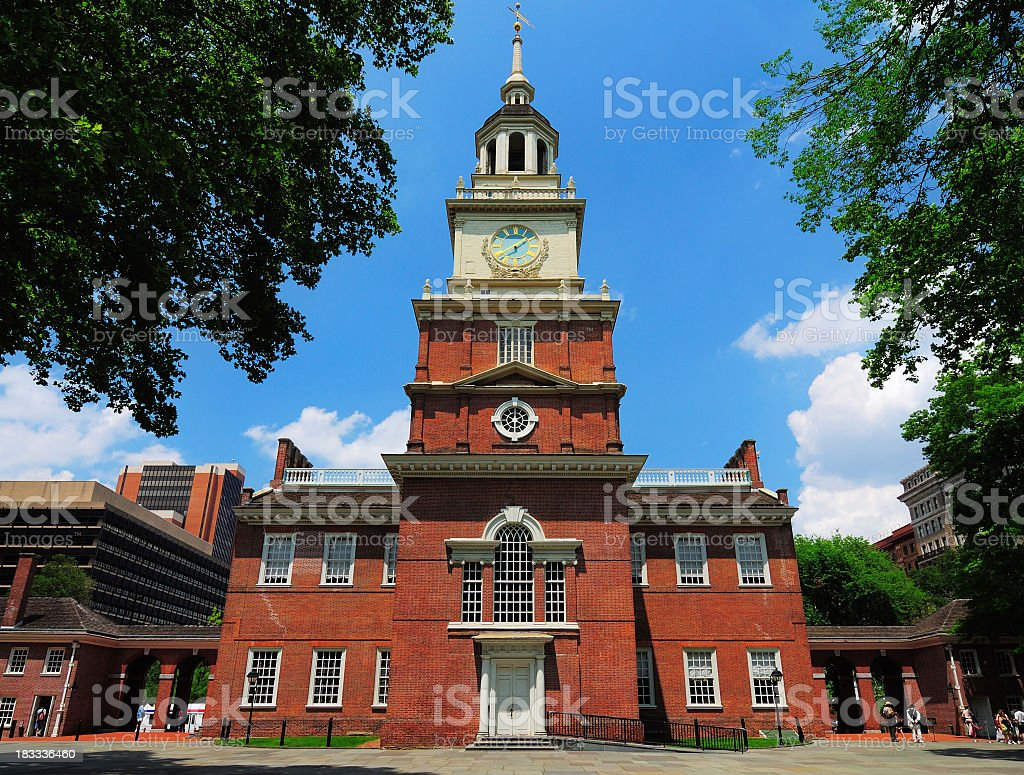 Independence Hall located in Philadelphia Pennsylvania stock photo