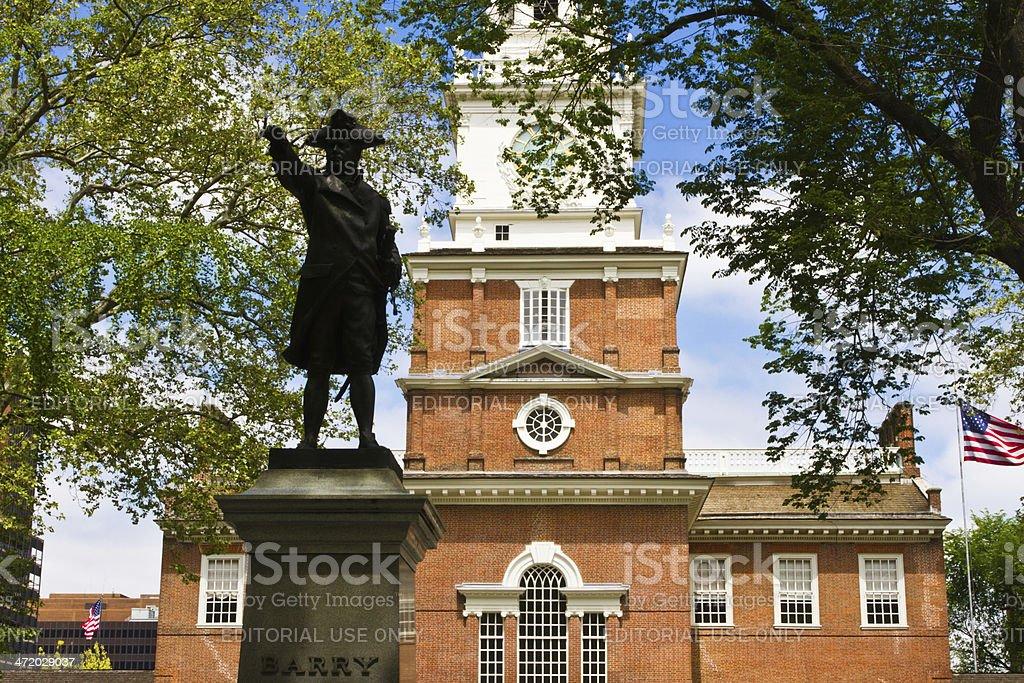 Independence Hall modern buildings, Philadelphia, Pennsylvania royalty-free stock photo