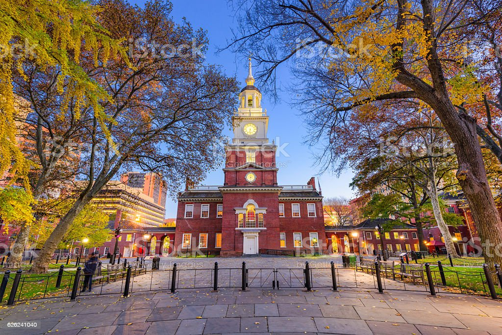 Independence Hall of Philadelphia stock photo