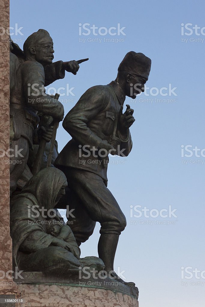 Independence Monument at Taksim Square in Istanbul stock photo
