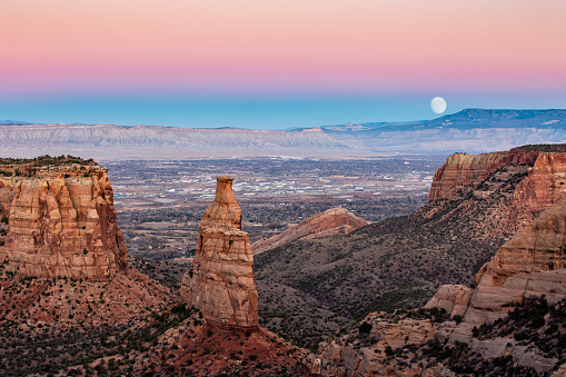 Independence Monument is one of the most popular and recognizable formations in Colorado National Monument near Grand Junction, Colorado.