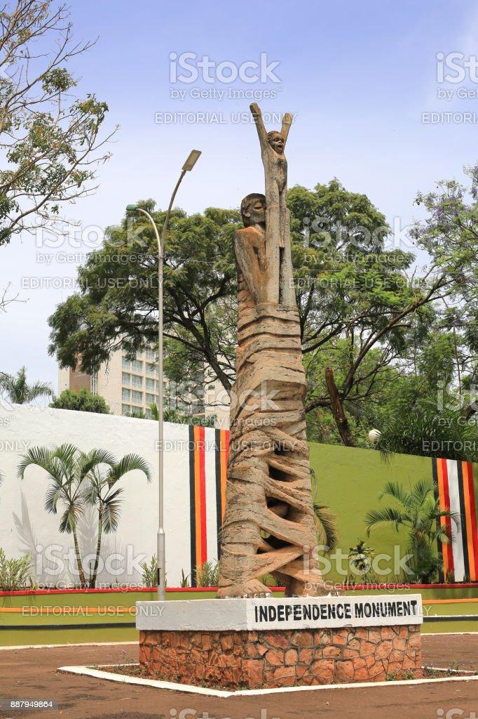 Independence monument in dowtown Kampala, Uganda stock photo