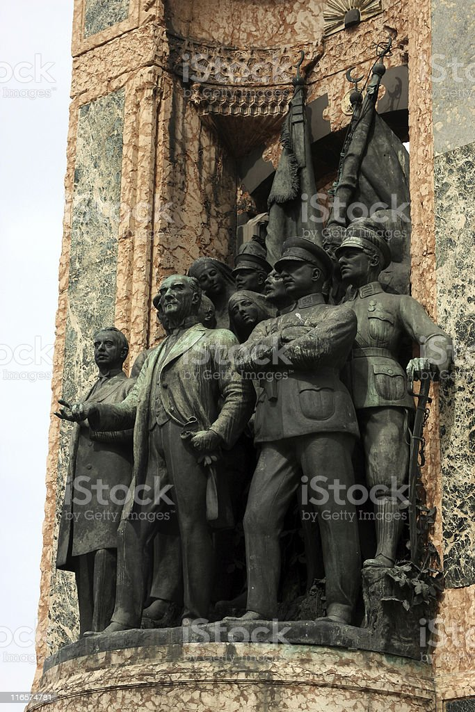 Independence Monument in Istanbul ( Taksim ) stock photo