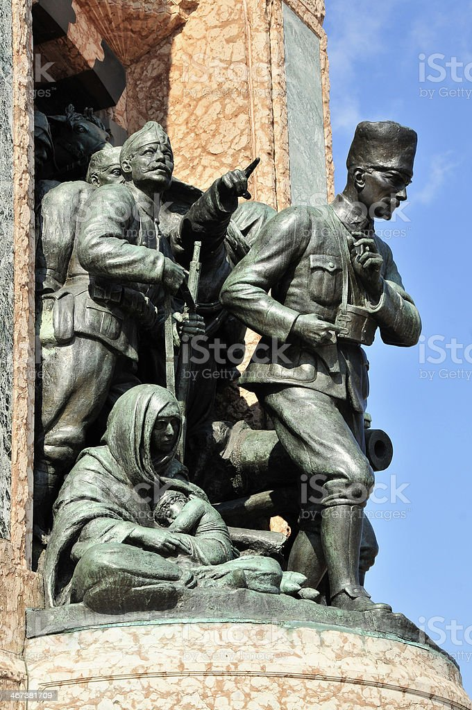 Independence Monument in Istanbul (Taksim) stock photo