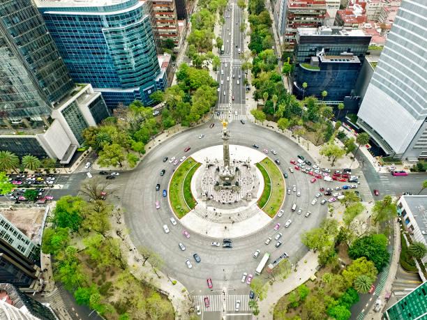 unabhängigkeit monument-mexico stadt - kreisverkehr stock-fotos und bilder