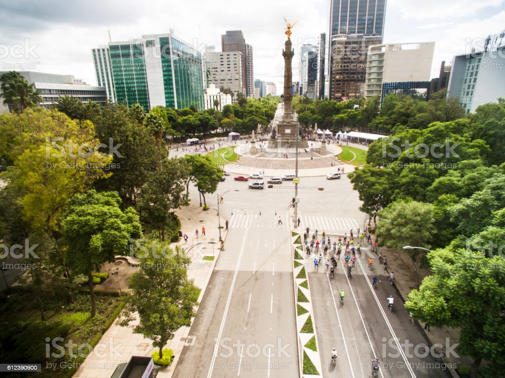 Independence monument in Mexico City stock photo