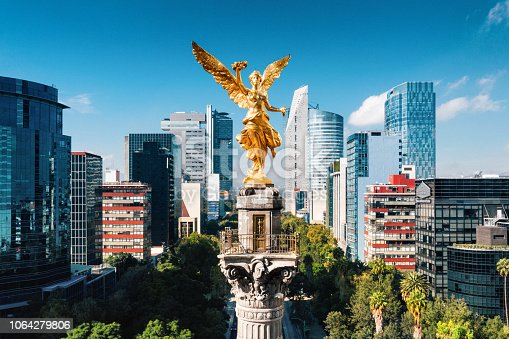 Aerial view of Independence Monument Mexico City