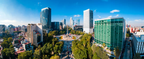 Independence Monument Mexico City stock photo