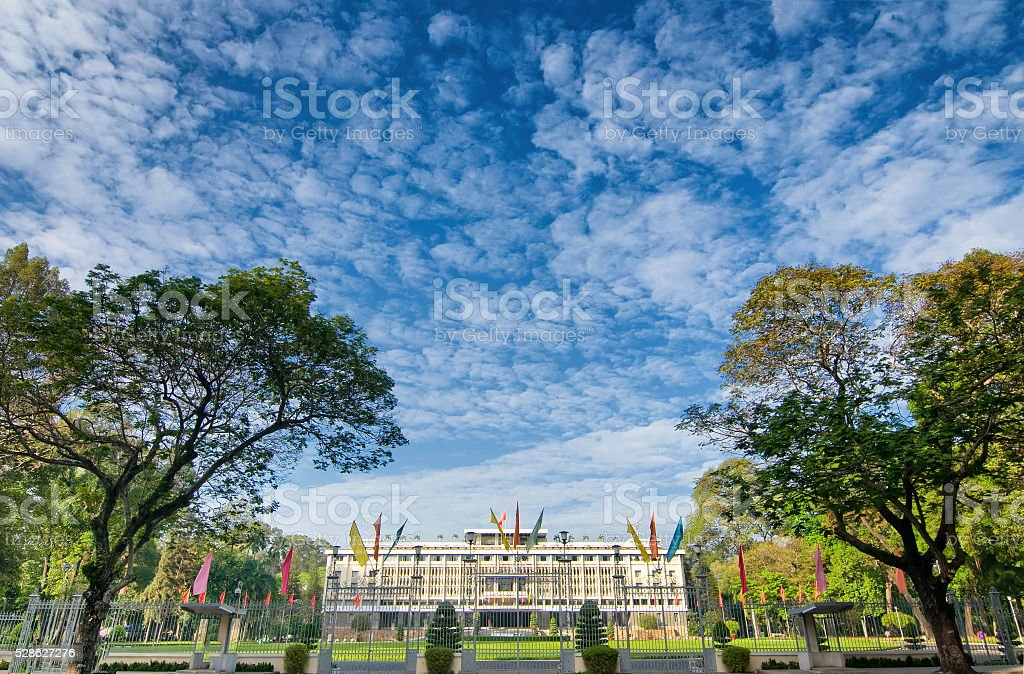 Independence palace in Ho Chi Minh city, Vietnam stock photo