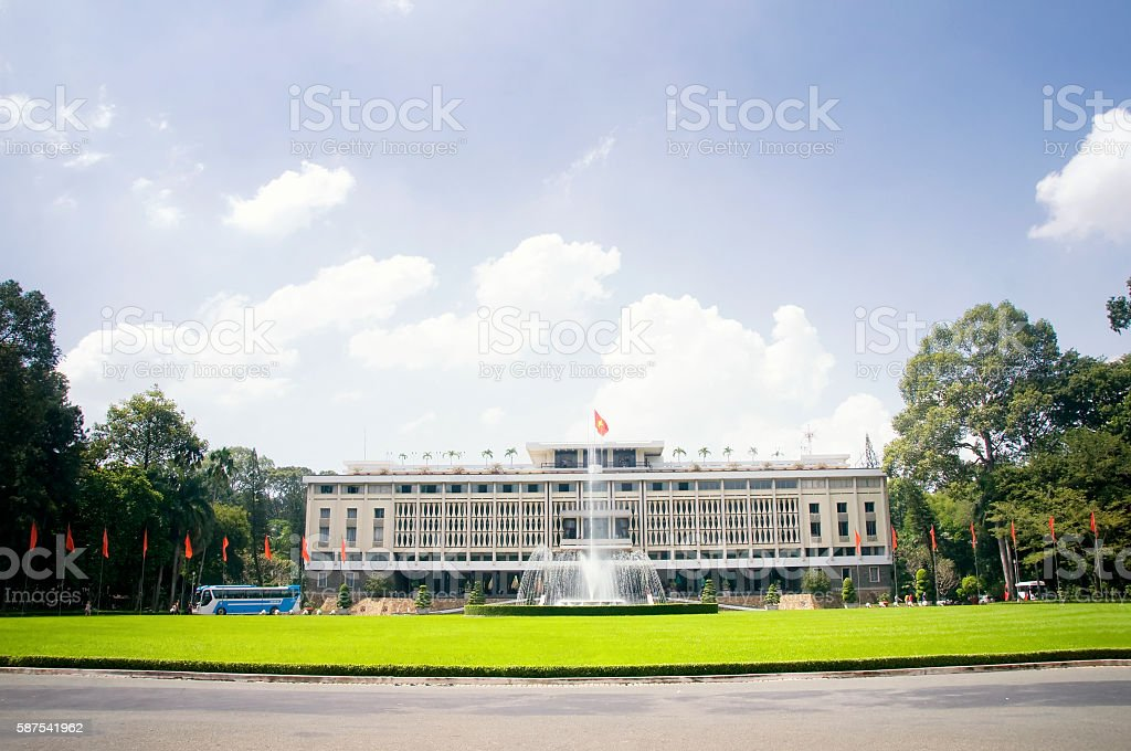 Independence Palace in Ho Chi Minh City, Vietnam. stock photo