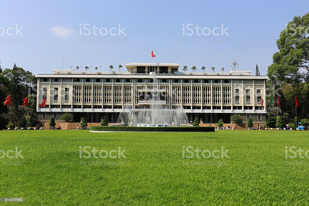 Independence Palace stock photo