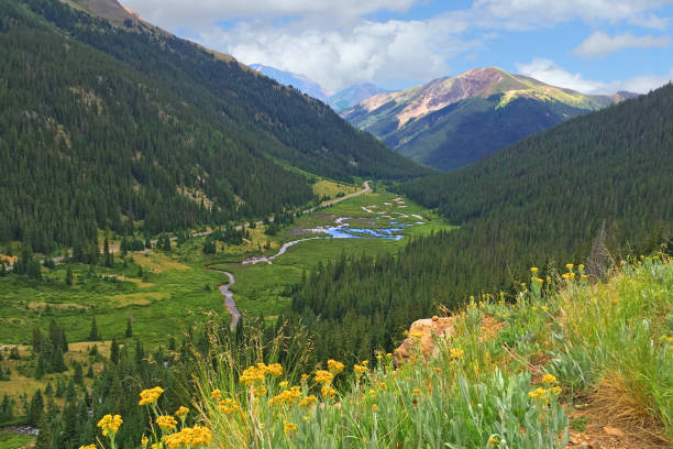 Independence Pass Colorado USA stock photo