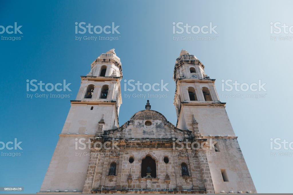 Independence Plaza. Campeche, Mexico royalty-free stock photo