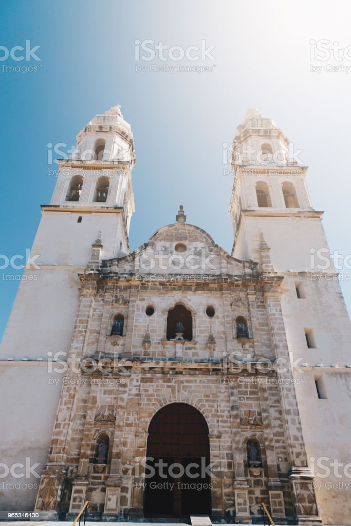 Independence Plaza. Campeche, Mexico zbiór zdjęć royalty-free