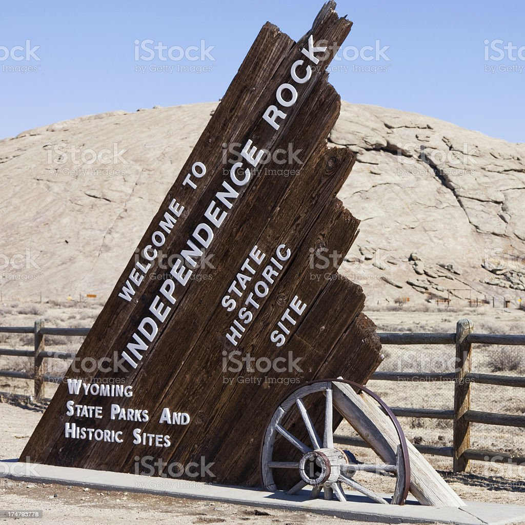 Independence Rock - Wyoming, USA stock photo