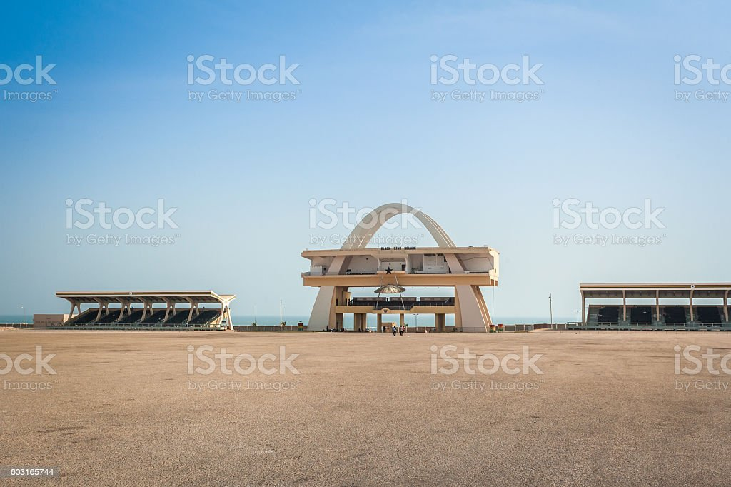 Independence square in Accra, Ghana stock photo