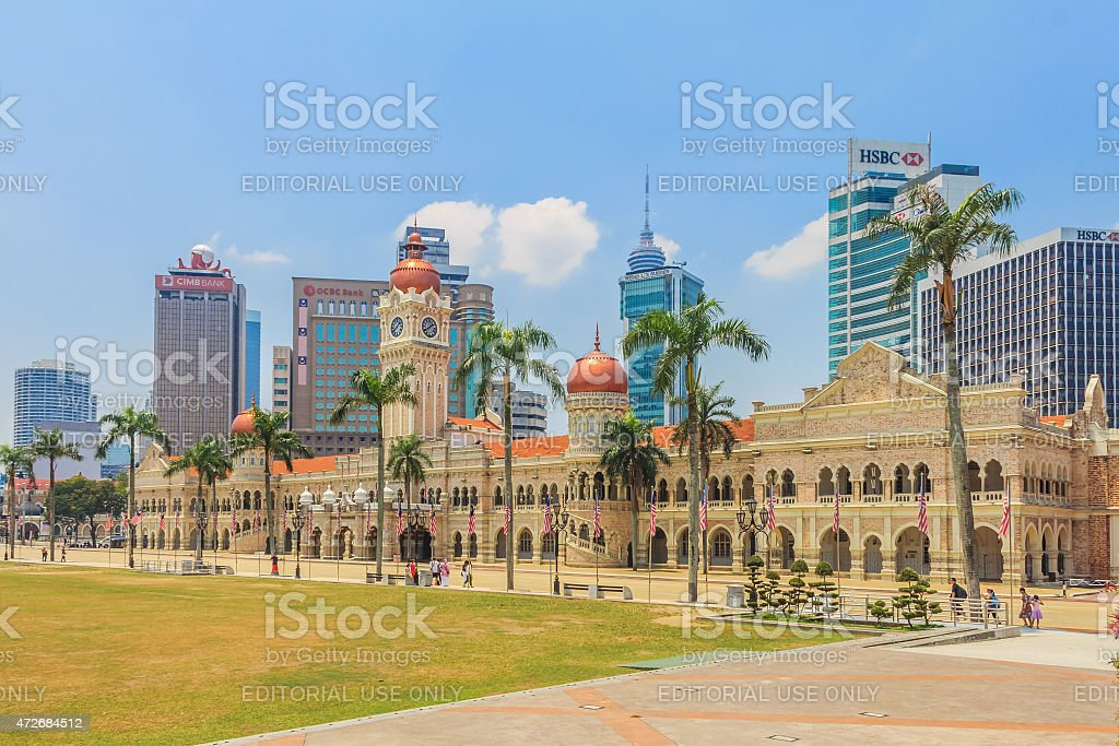 Independence Square in Kuala Lumpur stock photo