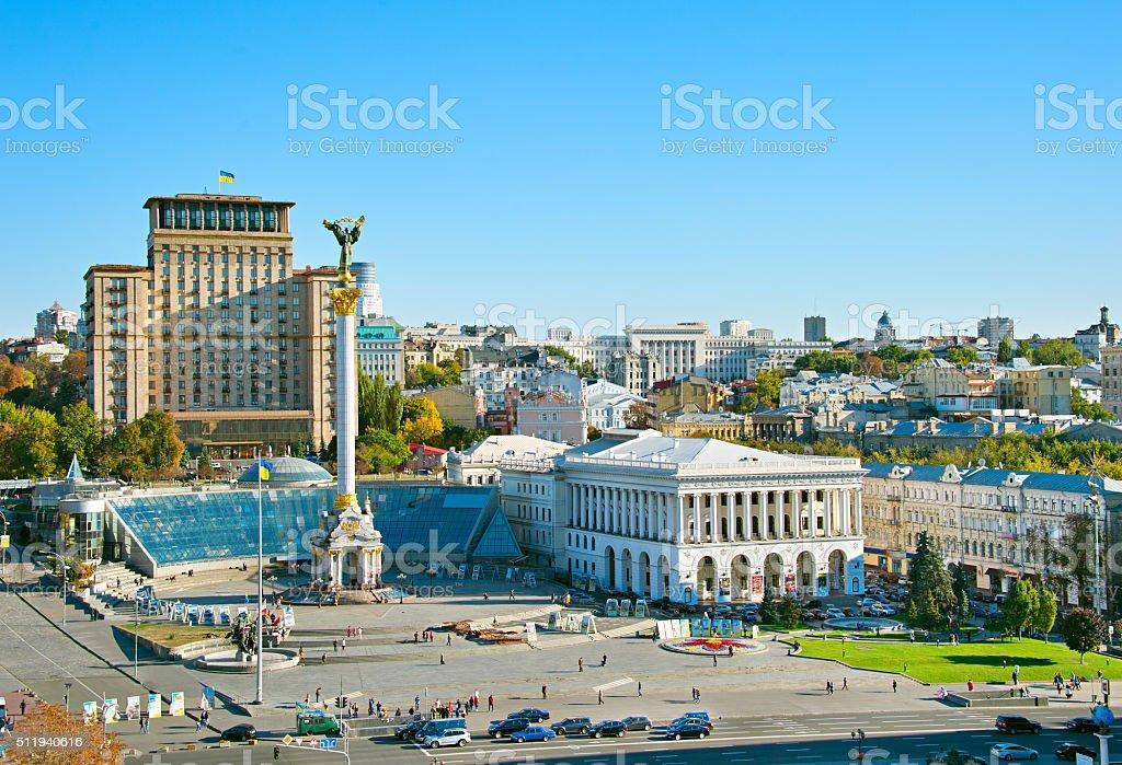 Independence Square. Kiev, Ukraine stock photo