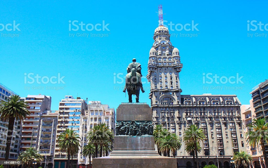 Independence Square, Montevideo, Uruguay stock photo