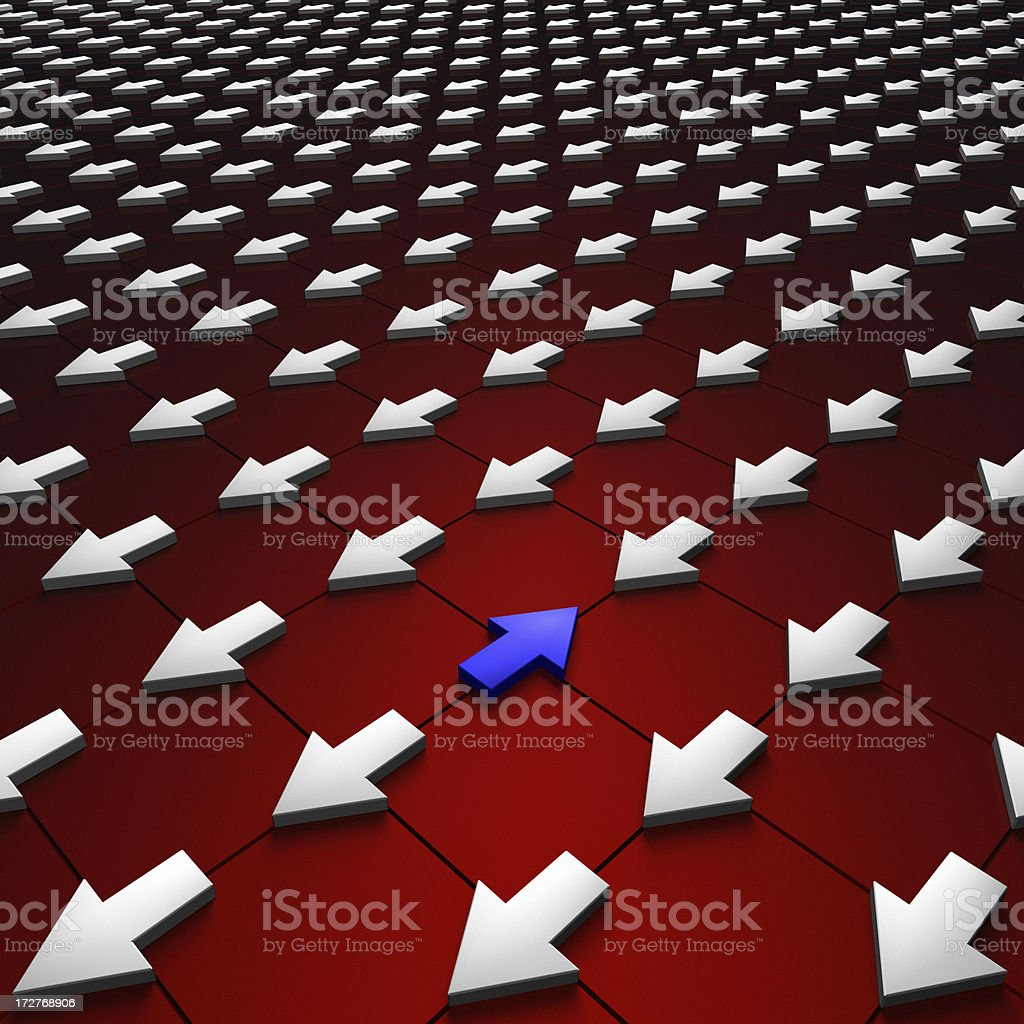 Independent Direction XL stock photo