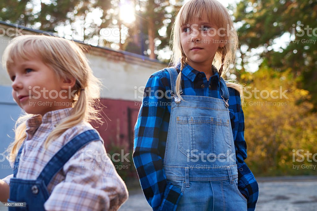 Independent kids stock photo
