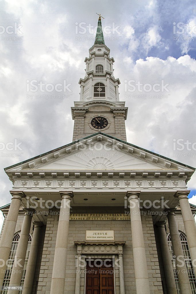 Independent Presbyterian Church, Savannah, Georgia stock photo