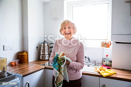istock Independent Senior Woman in her Kitchen 952119490