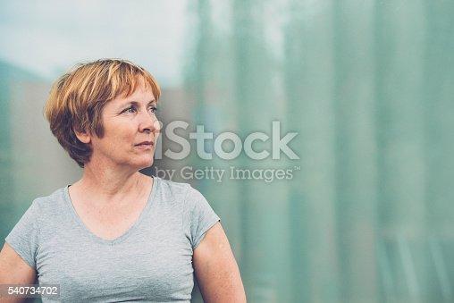 istock Independent Senior woman portrait - looking away 540734702